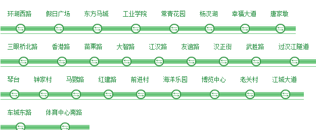 武汉地铁规划线路图最新V1.0 绿色版_52z.com