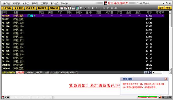 同花顺易汇通外汇行情分析看盘软件V7.01 电脑版_52z.com