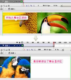 Flash几张图片首尾连接循环滚动实现方法_52z.com