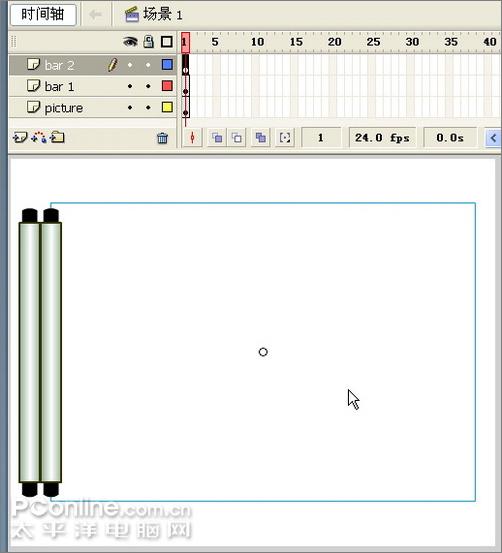 Flash教你如何制作一幅诗意的水墨卷轴展开的动画_52z.com