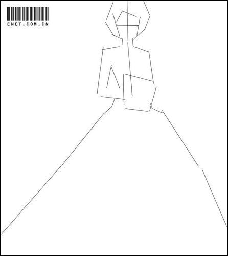 PS绘画卡通风格的礼服MM_52z.com