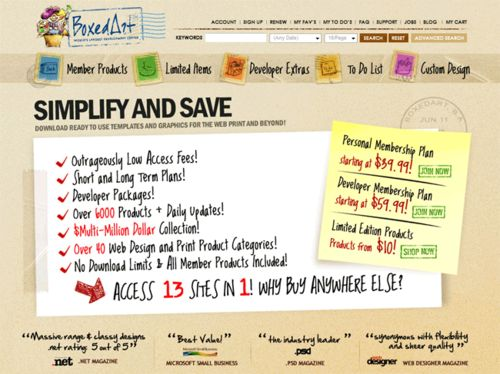 ps活泼手绘风格网页的设计和制作1_52z.com