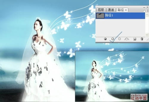 PS打造梦幻的天使婚片_52z.com