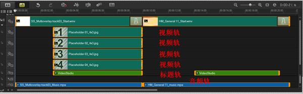 支持多轨道视频编辑定制个性视频效果  —— 会声会影X7_52z.com