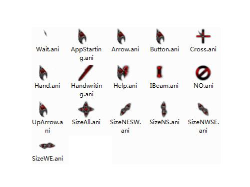 个性红色游戏鼠标指针