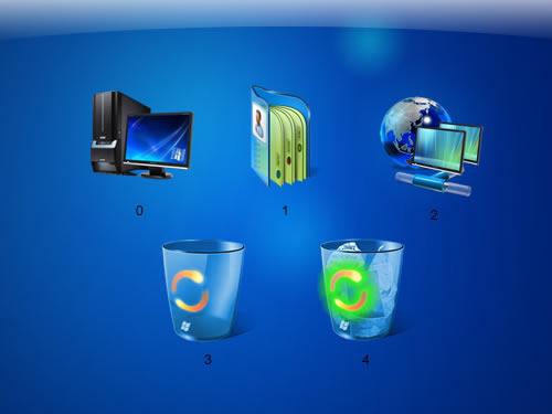 经典蓝色系统经典桌面图标