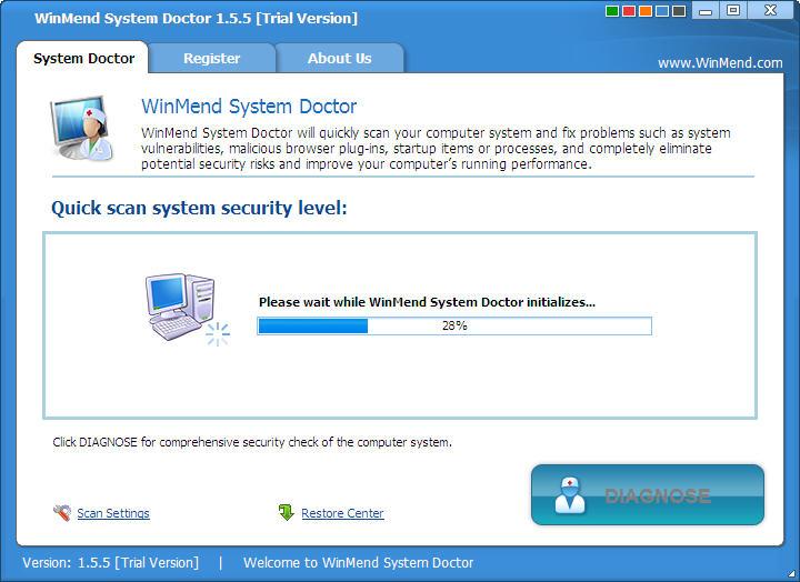 WinMend System Doctor(系统漏洞修复工具)V1.6.6 绿色英文特别版