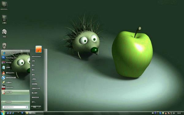 立体苹果电脑桌面   软件介绍
