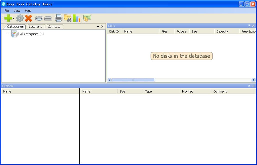 光盘目录索引制作(Easy Disk Catalog Maker)1.0 免费版
