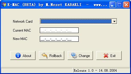网卡MAC修改器V2.0 汉化绿色版