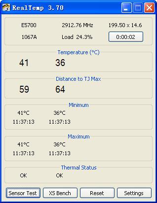 Real Temp(cpu温度检测工具)