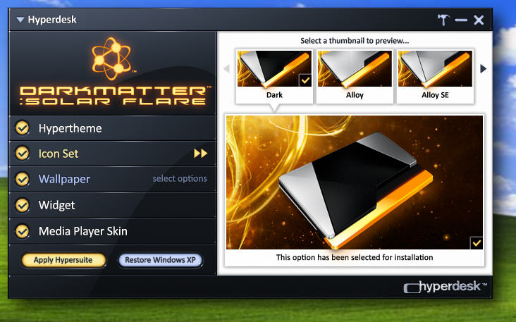 erDesk Windows XP主题美化工具 特别版大图预览 HyperDesk 图片