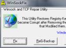 win tcp/IP修复工具 WinsockxpFix