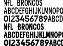 NFLBRONC卡通字体