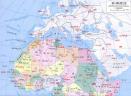 非洲地图高清中文版 绿色版