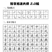 练字方法大师 V2.0 绿色版