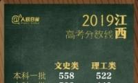 2019江西高考一本/二本分数线公布