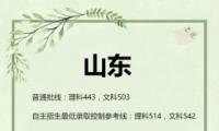 2019山东高考一本/二本分数线公布