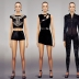 模拟人生4黑色显身材女装3套mod电脑版