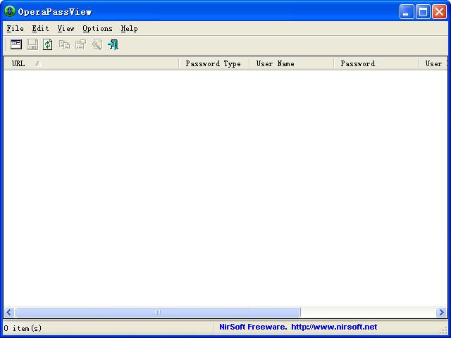 OperaPassViewV1.05 绿色英文免费版