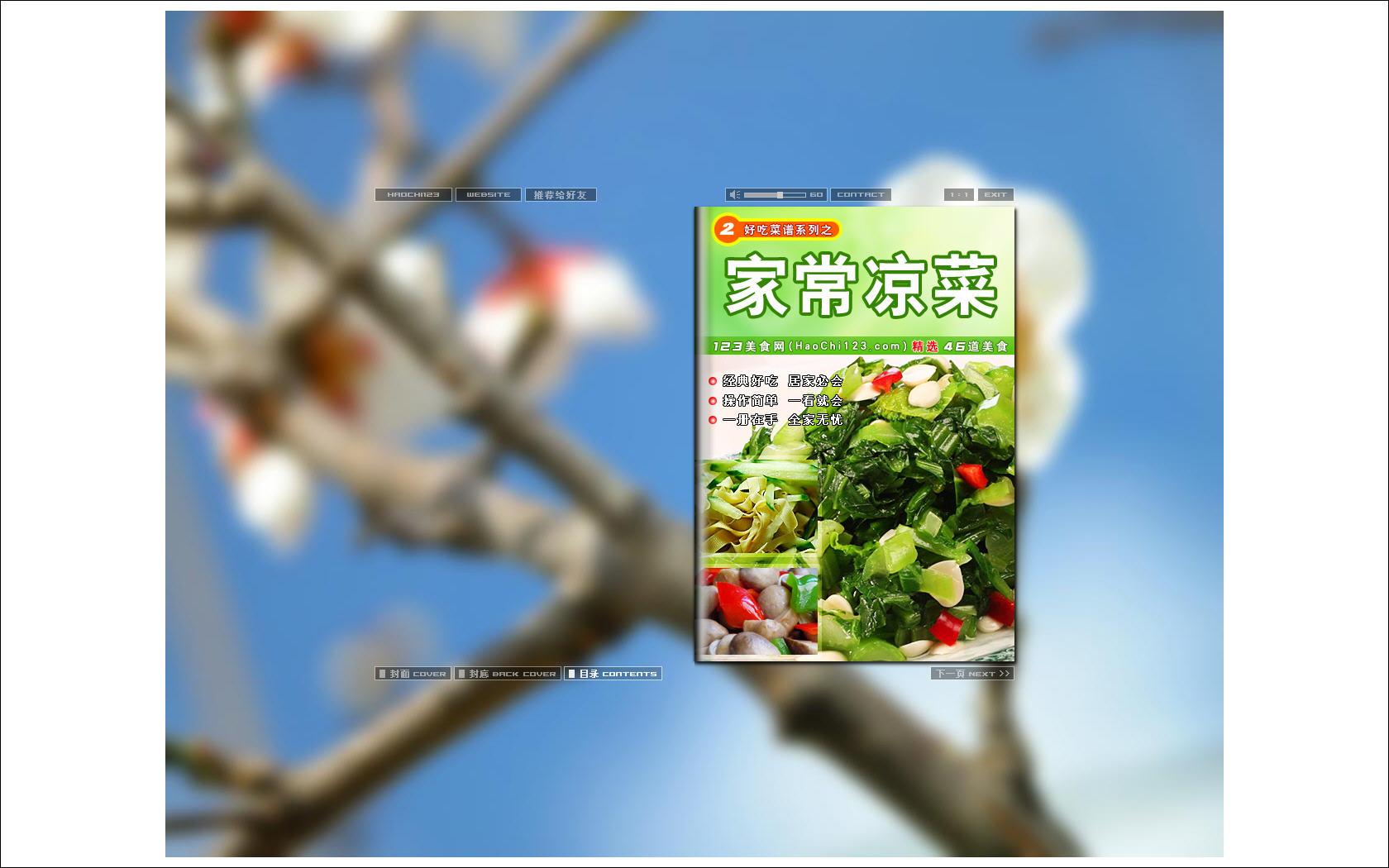 家常凉菜好吃系列电子菜谱 图片预览