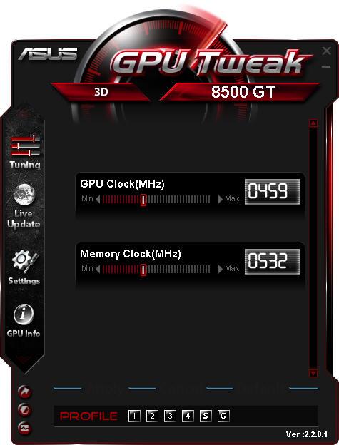 GPU Tweak(华硕显卡超频软件)V2.5.4.2 官方版