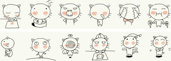 猫图案可爱简约