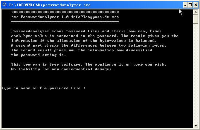 密码分析扫描(Passwordanalyzer)V1.0 绿色版