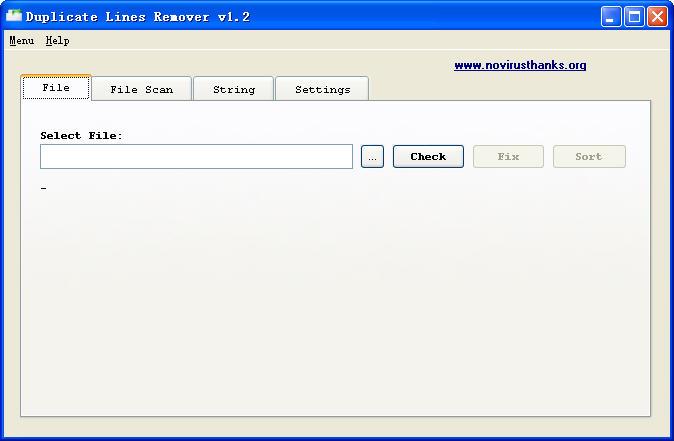 Duplicate Lines Remover(清除文本重复行软件)V1.2 官方版