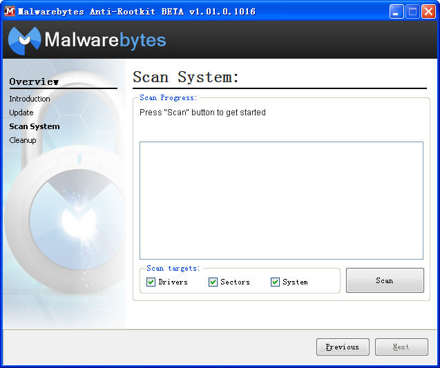 Malwarebytes Anti-Rootkit(免费木马杀毒软件)V1.07.0.1008 Beta 官方版