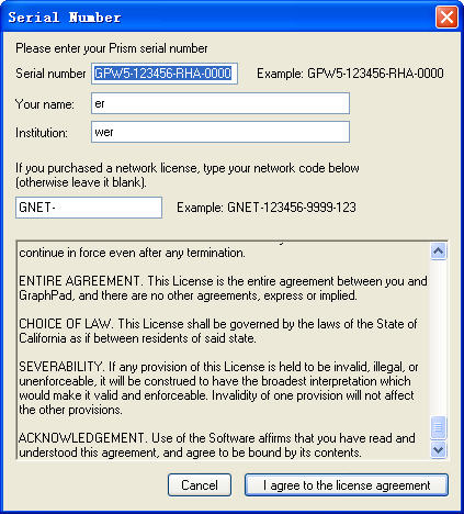 GraphPad PrismV5.01 注册版