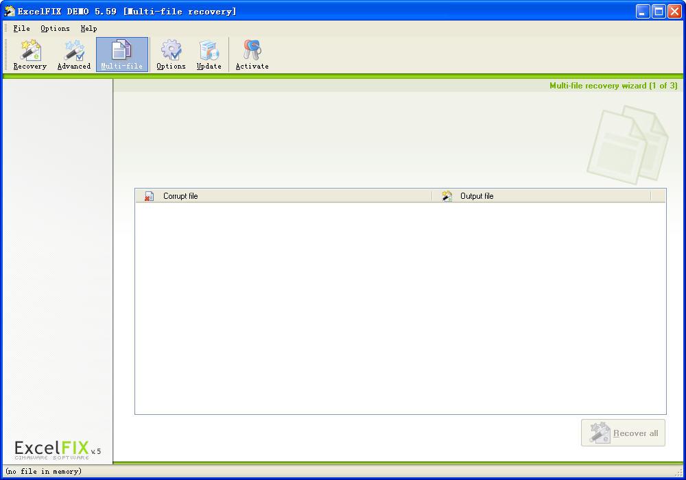 excel文件修复工具(ExcelFIX)V5.59 特别版