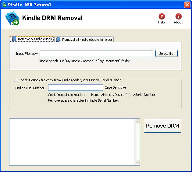 Kindle DRM RemovalV4.8.2.252 破解绿色版
