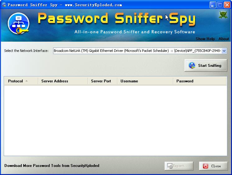 Password Sniffer SpyV1.0 安装版