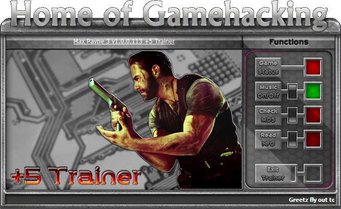 马克思佩恩3(Max Payne 3)五项修改器V1.0.0.113 HOG版