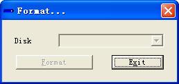MP3播放器格式化工具