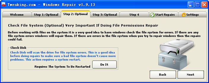 Windows RepairV1.9.13 英文绿色免费版