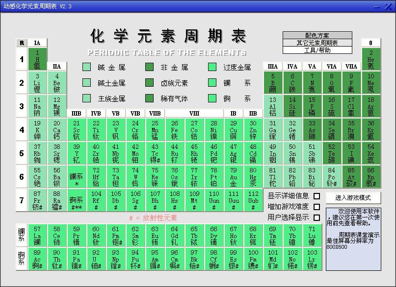 动感化学元素周期表V2.3 绿色版