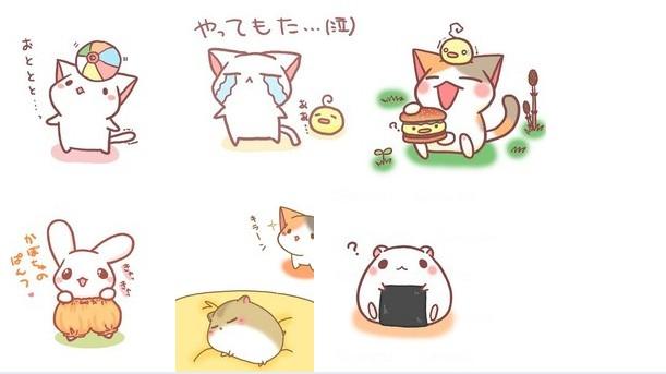 日本表情QQ猫咪_日本表情QQ表情下载我猫咪包了棒死图片
