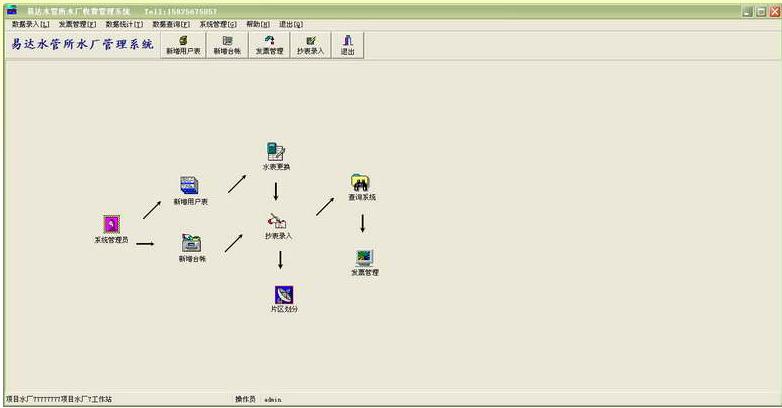易达水费收费管理系统V34.2.1 单机版