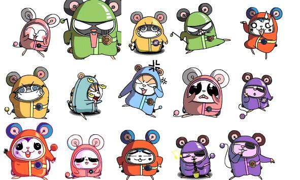 蘑菇鼠可爱qq表情大图预览_宇航鼠搞笑qq表表情斗可爱头宇航图大全包