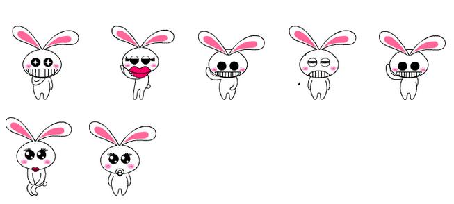 大耳朵兔子手绘图