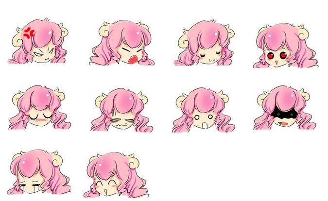 可爱 妹妹/粉紅羊妹妹可爱QQ表情 图片预览
