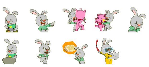qq聊天背景小兔子动物图片