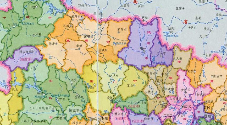 湖北地图图片
