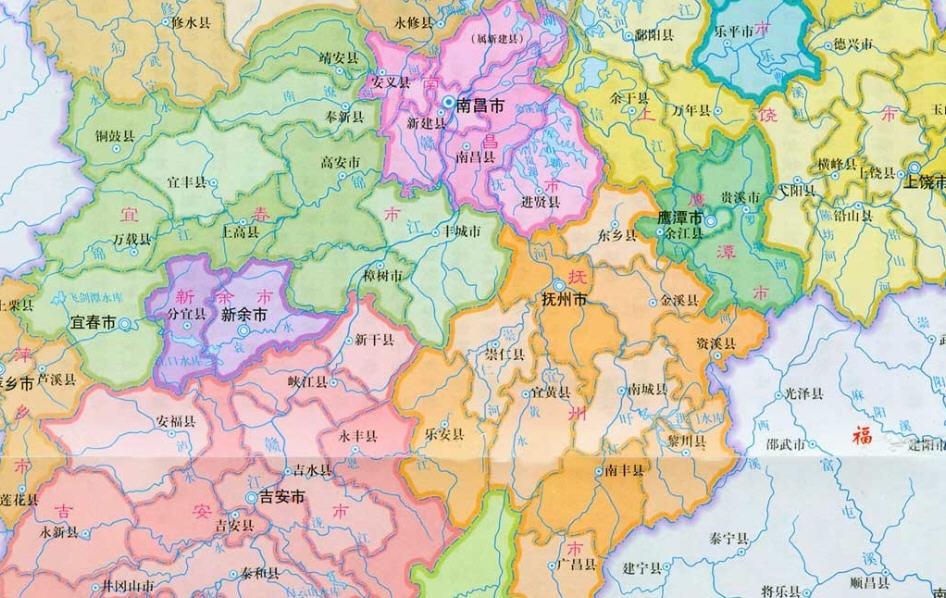 江西地图高清版_江西地图下载