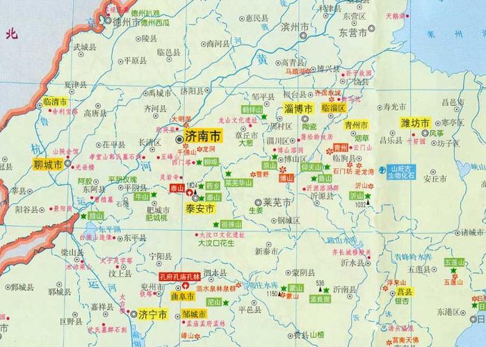 山东地图电子版_山东地图高清版下载_飞翔下载
