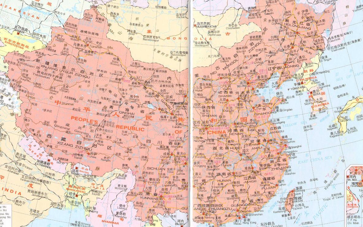 中国地图全图高清版_中国地图全图各省电子地图下载