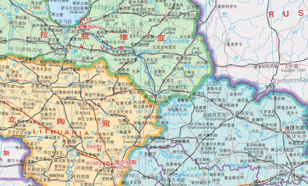 爱沙尼亚地图中文版_爱沙尼亚地图高清版全图下载