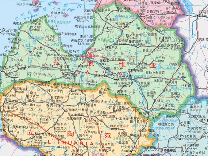 东方则与俄罗斯,白俄罗斯二国相邻